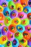 Bulk Plastic Easter Egg Hunt Eggs Filled with Jelly Beans, 1475 Count