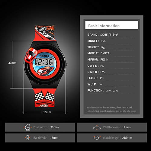 Kids Digital Watches 3D Car Silicone Children Toddler Wrist Watches Time Best Gift for Boys Girls Little Child by Farsler (Image #3)