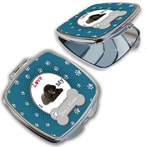 BleuReign(TM) Personalized Custom Name I Love My Dog Newfoundland Compact Mirror