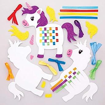 Baker Ross AW630 Kit de Tejer Unicornios de Color Arco Iris (Pack ...
