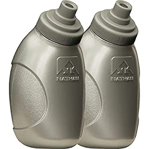Nathan Flask with Race Cap-Pack of 2, 8-Ounce, Silver