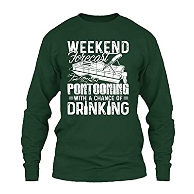 Wholesale Pontoon Cool TShirts Design - Pontooning With A Chance Of Drinking Beautiful T-Shirt For You And Family for sale