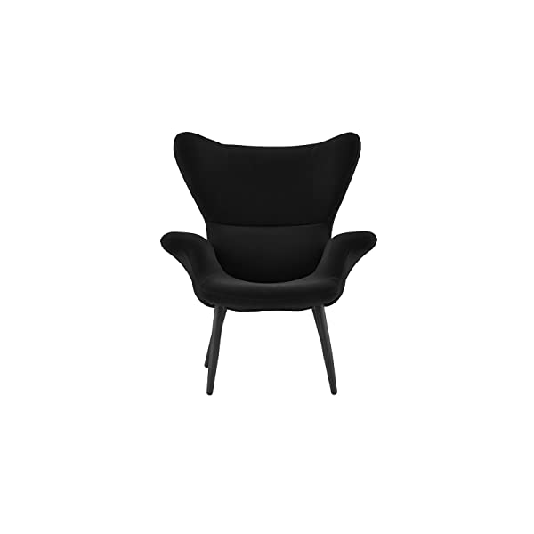 Modern Velvet Accent Chair (Black)