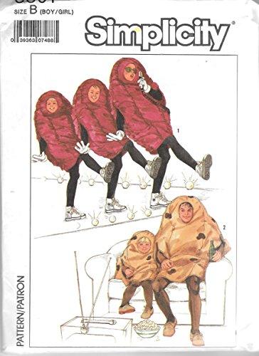 Simplicity 8891 Raisin & Potato Costume Sewing Patterm Child Size S M L (2 to 12) Vintage]()