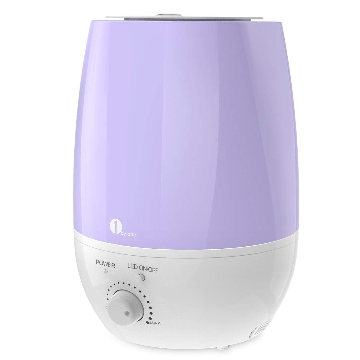 1byone Luftbefeuchter Ultraschall Ionen, 6 Liter Leise Raumbefeuchter mit Filter, Abschaltautomatik, LED Lichter für Baby und Kinder Raum 1 BY ONE