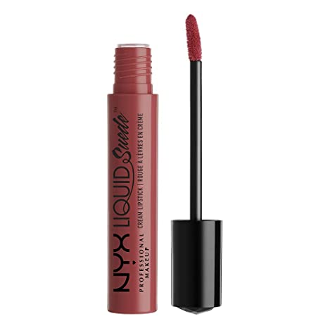 NYX PROFESSIONAL MAKEUP Liquid Suede Cream Lipstick, Soft Spoken, 1 Count