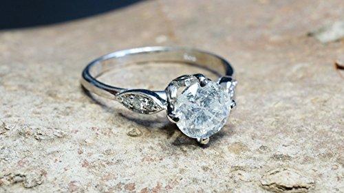 1 ct Diamond Engagement Ring - White Gold Engagement Ring - Engagement Ring ,promise ring - Bridal Jewellery - Anniversary Gift