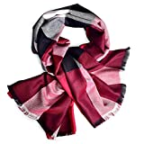 Women's Fashion Cotton Plaid Scarf Soft Silky Shawls and Wraps Lightweight Tatan Scarf For Spring