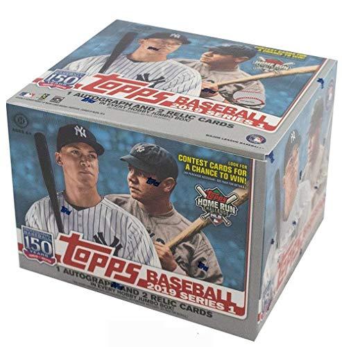 2019 Topps Series 1 MLB Baseball JUMBO box (10 pk, ONE Autograph & TWO Memorabilia cards, no bonus pks)