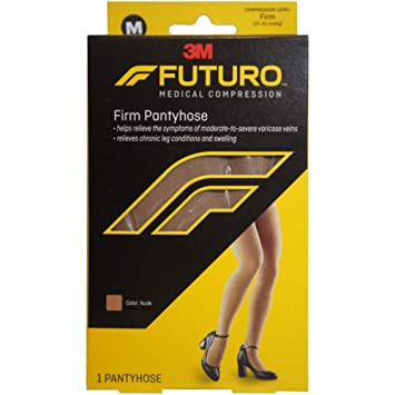 d8b240b92 Image Unavailable. Image not available for. Color  Futuro Pantyhose Full - Cut  Firm 20-30 mm hg Compression ...