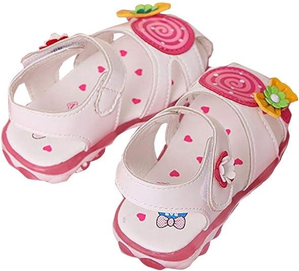 Miyanuby Sandalias Bebe Ni/ña Verano Zapatos de Princesa Ni/ña Suela Suave Antideslizante Zapatos para 0-4 A/ños