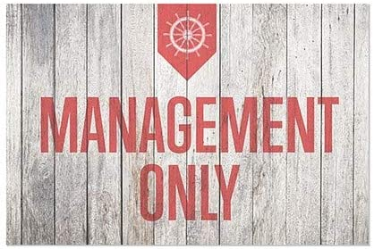 Management Only CGSignLab 36x24 Nautical Wood Window Cling