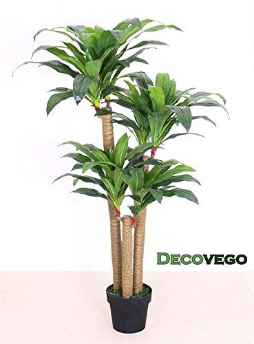 Drachenbaum Kunstpflanze Kunstbaum Künstliche Pflanze mit Topf 140cm Decovego