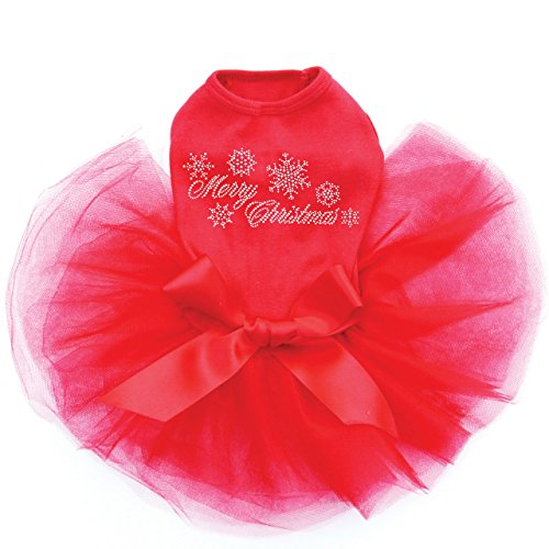 Dog in the Closet, Merry Christmas with Swarovski Snowflakes - Dog Tutu by Dog in the Closet