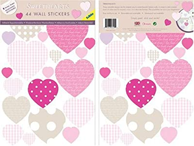 Funtosee Mini Wall Art Decals Sweethearts by FunToSee