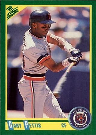 Amazoncom 1990 Score Baseball Card 136 Gary Pettis Near Mintmint