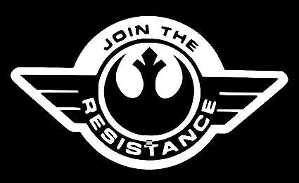 RESISTANCE Star Wars Rebel Alliance Logo Car Laptop Vinyl Sticker Decal