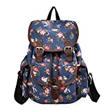 Epokris Blue Flower Backpack for Girls School Backpack Book Bag 163BE Deal