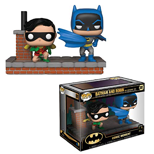 Funko- Pop Vinyl Comic Moment 80th Look Batman and Robin (1964) Figura de Vinilo, Multicolor (37256)