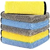 HOTOR Ultra Thick Microfiber Cleaning Cloths, 16'' x 16'' Thickened and Absorbent Microfiber Towels with Great Bibulous…