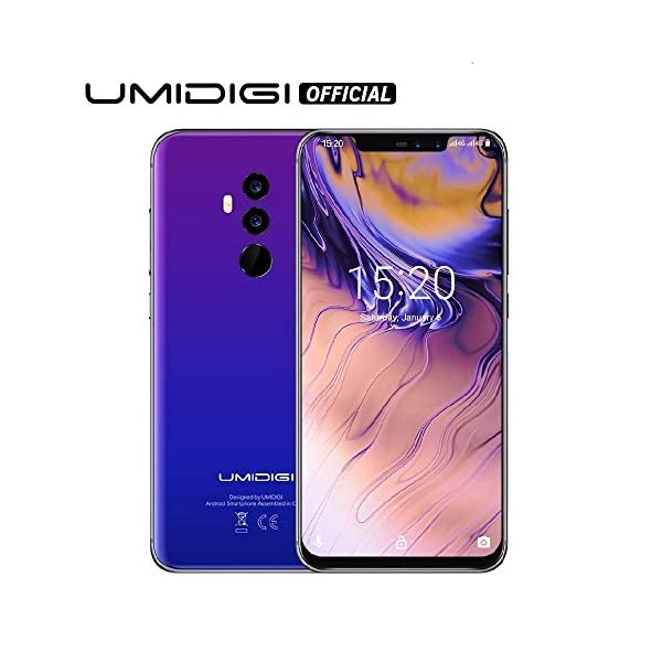 "51OngdnMP8L. SS600 - UMIDIGI Z2 Special Edition- 4GB RAM+64GB ROM Unlocked Cell Phone - 6.2"" FullView Display(19:9 Ratio - Dual Sim 4G Volte Unlocked Smartphone -16MP+8MP Dual Camera - 3850mAh Battery(Fantastic)"