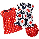 Carters Baby Girls' Navy/Red Dot 2-Pack Dress Set