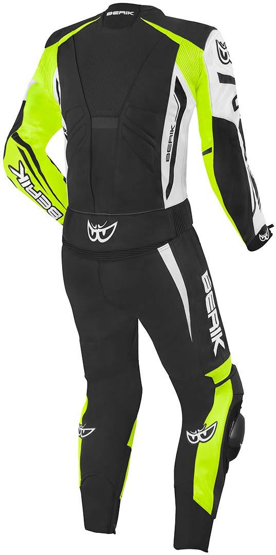 Berik Monza 2pc leather suit Black//White//Yellow Size 54