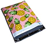 Poly Mailers Pineapple Designer Boutique Mailers Custom Bags Pink & Yellow Shipping Envelopes Boutique Custom Bags #SmileMail (100 10x13)