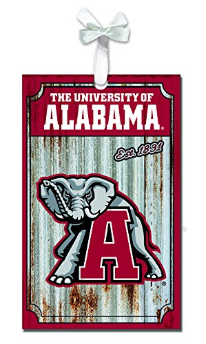 Team Sports America Alabama Crimson Tide Corrugated Metal Ornament ()