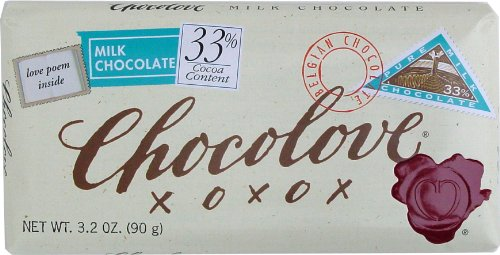 Chocolove Pure Milk Chocolate, 3.2 Ounce
