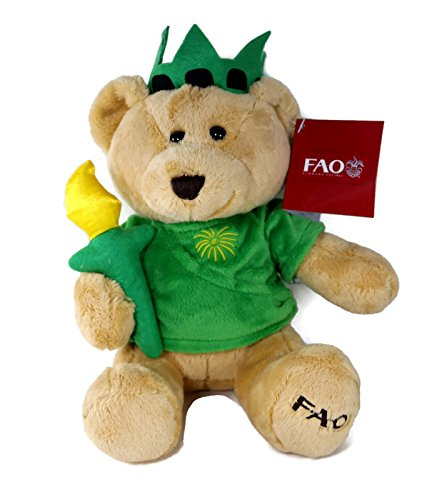 FAO Schwarz 9 Inch Plush Stuffed Statue of Liberty Teddy Bear (Bear Christmas Teddy Dressed)