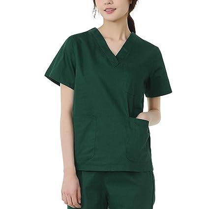 Uniformes de manga corta para mujer Ropa de enfermería de ...