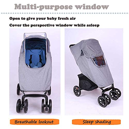 for Pushchairs Accessories Strollers Raincoat Lion Paw Stroller Rain Cover Travel Weather Shield Universal with Air Holes EVA Window