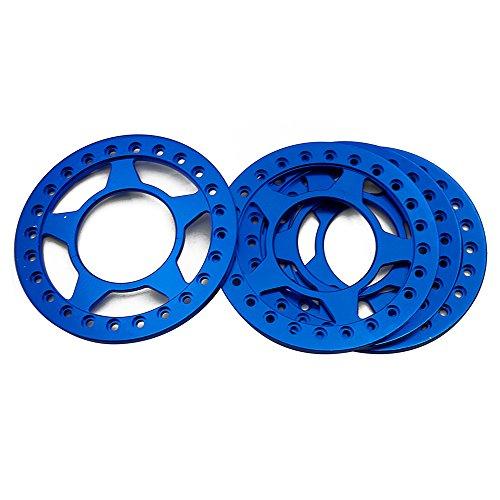 2.2 Beadlock Ring (RCLIONS 4pcs Aluminum Replacement Wheel Rim Beadlock Ring for 1:10 Crawler RC Car 2.2