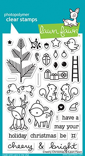Lawn Fawn ''Cheery Christmas'' Clear Stamp - LF1216 by Lawn Fawn