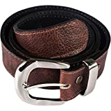 Atitlan Leather Brown Leather Money Belt with Interchangeable Buckle (48)