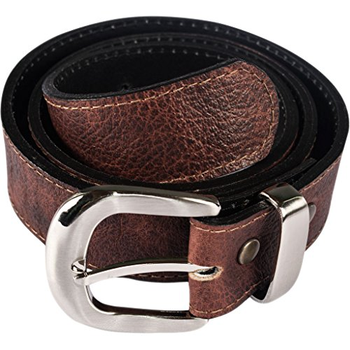 Atitlan Leather Brown Leather Money Belt with Interchangeable Buckle ()