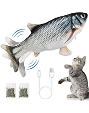 Ozoosh Pets Electric Flopping Fish Cat Toy Interactive Cat Toys Dog Toy Catnip Toy Chew Toys Floppy Fish Cat Kicker Toy for Cat Kitten