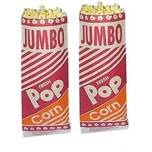 """Hoosier Hill 12"""" Jumbo Popcorn Bags 2 oz 100 count"""