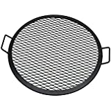 Sunnydaze X-Marks Fire Pit Cooking Grill Grate, Outdoor Round BBQ Campfire Grill, Camping Cookware, 22 Inch
