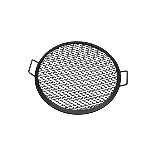 Hinged Grate - Sunnydaze X-Marks Fire Pit Cooking Grill Grate, Outdoor Round BBQ Campfire Grill, Camping Cookware, 22 Inch