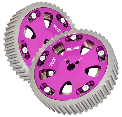 2 Piece Purple Adjustable Cam Shaft Gears For 4g63 Dohc -