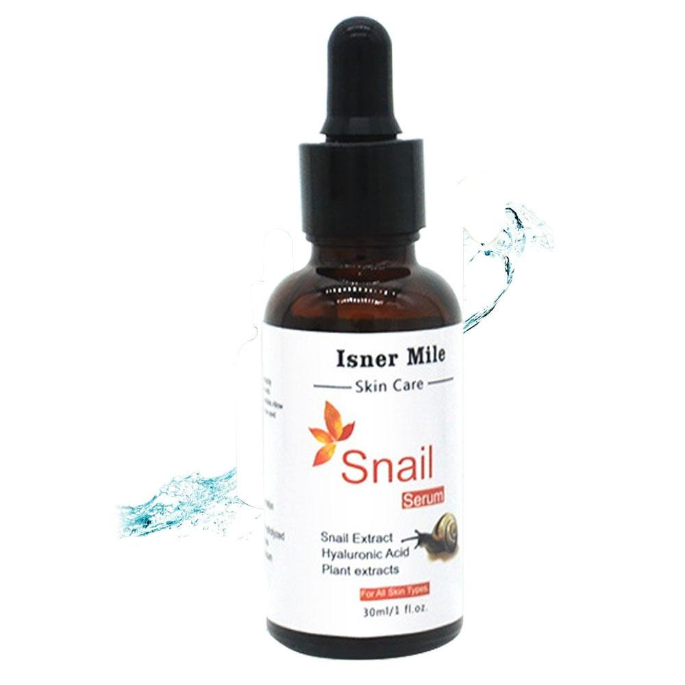 Snail Serum, Aolvo Hyaluronic Acid Intensive Repair Essence For Anti-Aging Night Repair And Nourish 30ML