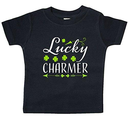 inktastic Lucky Charmer- St. Patricks Day Baby T-Shirt 18 Months Black 2ec1c