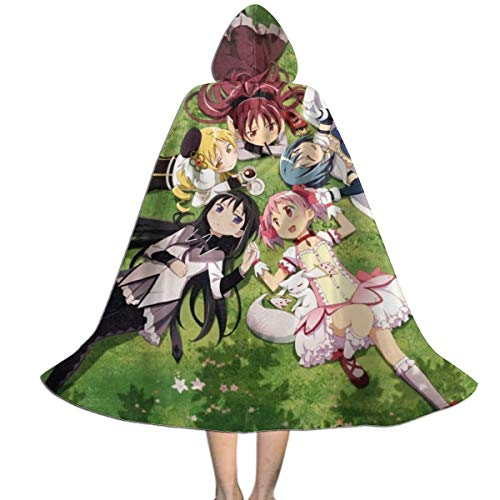 Madoka Magica This Is Halloween (GASDFEFSD Boys Cool Special Puella Magi Madoka Magica Anime Hooded Cloak Cape for Christmas Halloween Cosplay Costume M)