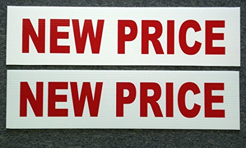 2Pc Great Popular New Price Signs Riders Outdoor Board Shop Declare Store Message Size 6