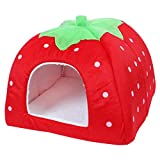 Cheap uxcell Soft Warm Strawberry Pet Dog Cat Bed House Kennel Puppy Cushion Basket Pad XL