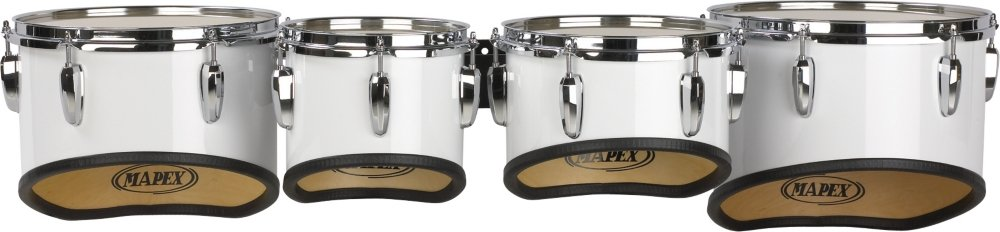Mapex QUALIFIER MULTI TOMS 8'', 10'', 12'', 13'' Snow White