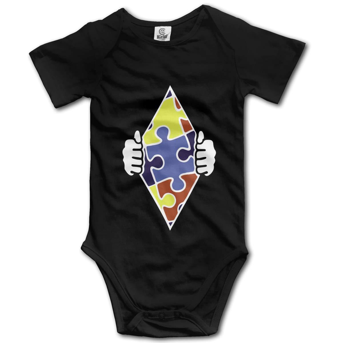 XHX Newborn Babys Autism Superhero Short Sleeve Romper Onesie Bodysuit Jumpsuit
