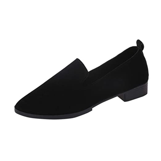 b7f0299eee90c Women Flat Shoes HGWXX7 Fashion Casual Matte Surface Pointed Toe Slip On  Flat Sandals Solid Loafer Shoes